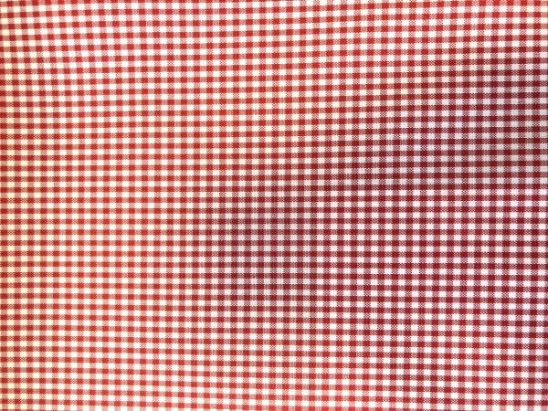 Zdjęcie przedstawia art. MM43Y, tkanina poliestrowa (100% poliester, gramatura 160 g/m2, szerokość 150 cm) w kolorze czerwonym (nr. 3661), we wzorze 207, ukazanie wzoru tkaniny.